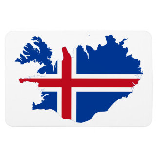 ICELAND MAP RECTANGLE MAGNET