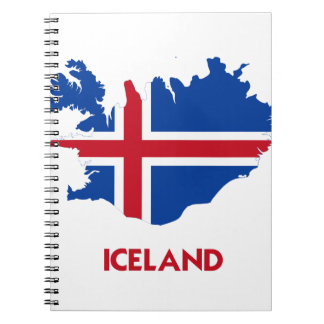 ICELAND MAP SPIRAL NOTEBOOK