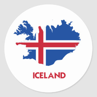 ICELAND MAP STICKERS