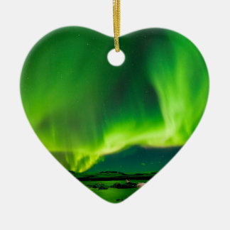 Iceland Northern Lights Christmas Ornament