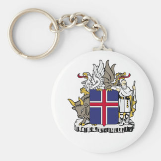 Iceland Official Coat Of Arms Heraldry Symbol Key Chains