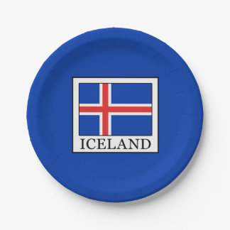 Iceland Paper Plate