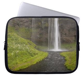 Iceland. People on trail behind Seljalandsfoss Computer Sleeves