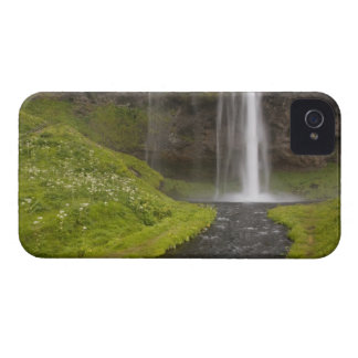 Iceland. People on trail behind Seljalandsfoss iPhone 4 Cover