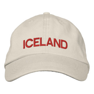 Iceland* Personalized Adjustable Hat Embroidered Hat