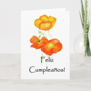 Iceland Poppies Birthday Card
