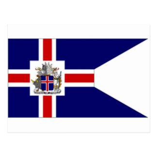 Iceland President Flag Postcard