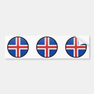 Iceland quality Flag Circle Bumper Sticker