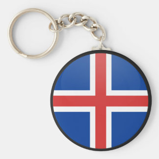 Iceland quality Flag Circle Key Ring