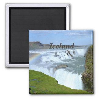 Iceland Rainbows Square Magnet