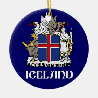 ICELAND - seal/emblem/blazon/coat of arms/symbol Christmas Ornament