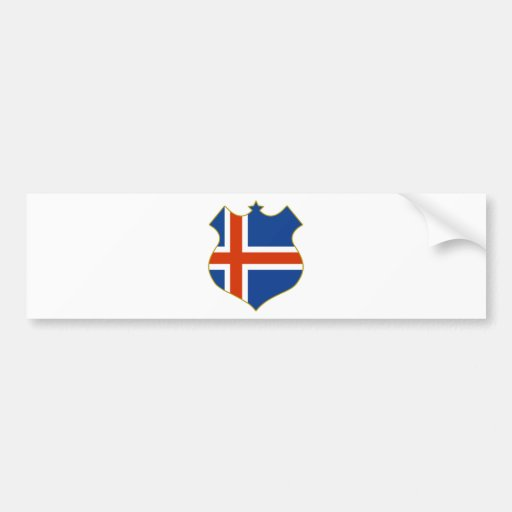 Iceland-shield.png Bumper Stickers