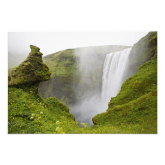 Iceland. Skogarfoss Waterfall plunges over a Photo Print