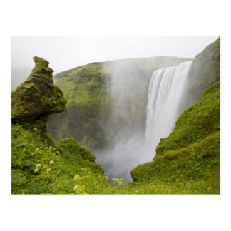 Iceland. Skogarfoss Waterfall plunges over a Postcard