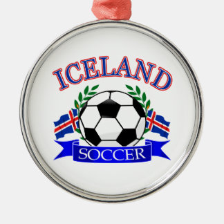 Iceland soccer ball designs christmas ornament
