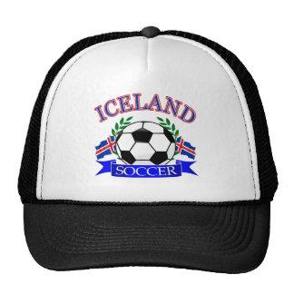 Iceland soccer ball designs hat