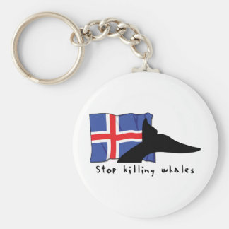 Iceland Stop Killing Whales Key Ring