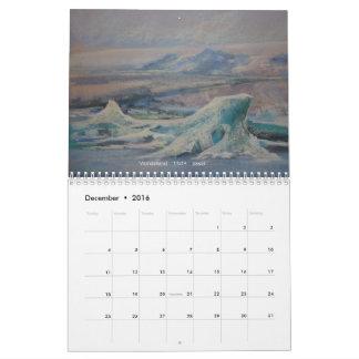 Iceland Through the Eyes of an Artist Calendar