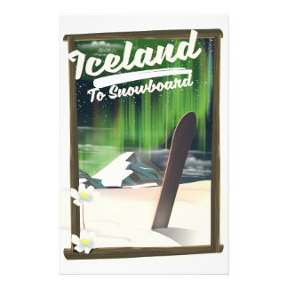 Iceland to Snowboard Stationery