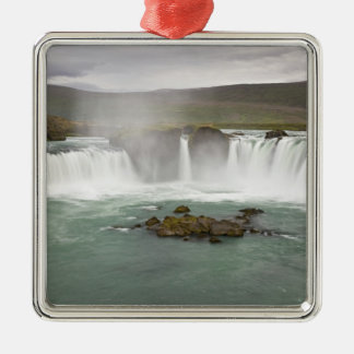 Iceland. View of Godafoss Falls on the Christmas Ornament