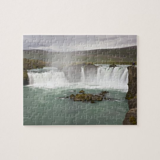 Iceland. View of Godafoss Falls on the Jigsaw
