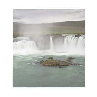 Iceland. View of Godafoss Falls on the Notepad