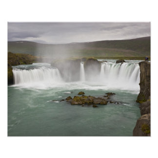 Iceland. View of Godafoss Falls on the Poster