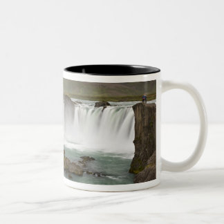 Iceland. View of Godafoss Falls on the Two-Tone Coffee Mug