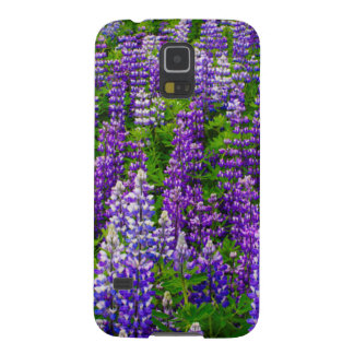 Iceland. Vik i Myrdal. Field of Lupines Galaxy S5 Cases