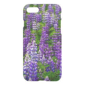 Iceland. Vik i Myrdal. Field of Lupines iPhone 7 Case