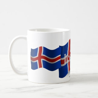 Iceland Waving Flag Coffee Mug