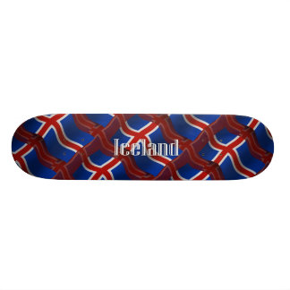 Iceland Waving Flag Skate Deck