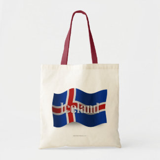 Iceland Waving Flag Tote Bag