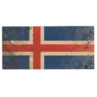 Iceland Wood USB 2.0 Flash Drive