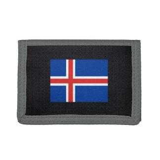 Icelander National flag of Iceland-01.png Trifold Wallet