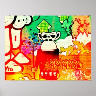 Icelandic Ape Graffiti Poster