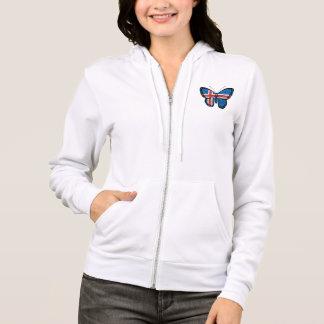 Icelandic Butterfly Flag Hoodie