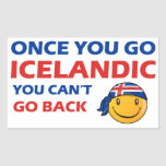 Icelandic designs rectangular sticker
