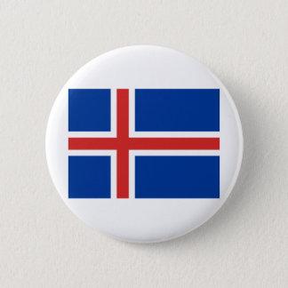Icelandic flag 6 cm round badge