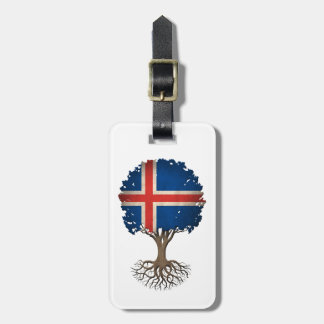 Icelandic Flag Tree of Life Customizable Bag Tag