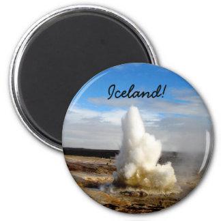 Icelandic Geyser 6 Cm Round Magnet