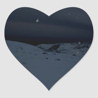 Icelandic Glacier Heart Sticker