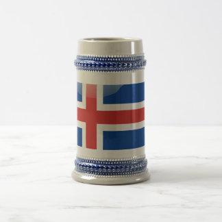 Icelandic glossy flag beer stein