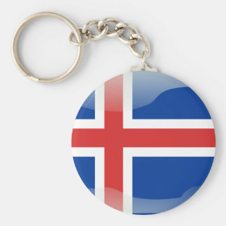 Icelandic glossy flag key ring