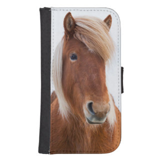 Icelandic Horse during winter  2 Samsung S4 Wallet Case