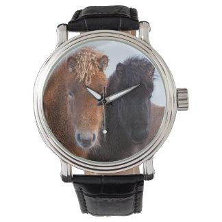 Icelandic Horse during winter on Iceland 2 Wristwatch