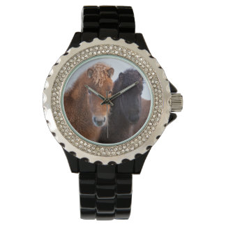 Icelandic Horse during winter on Iceland 2 Wristwatches