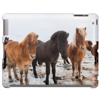Icelandic Horse during winter on Iceland iPad Case