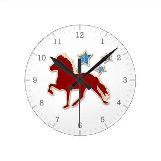 Icelandic Horse Festive Stars Clocks