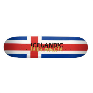 Icelandic Horse | Flag of Iceland 21.3 Cm Mini Skateboard Deck